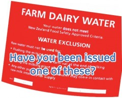 Water Exclusion Sticker